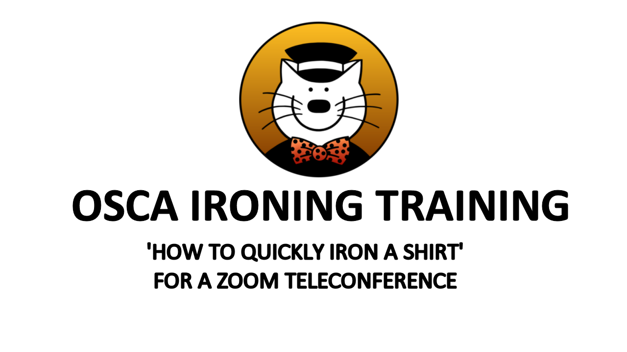 How to Iron a shirt for a teleconference while working from home